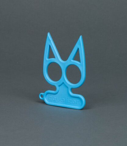 baby blue cat self-defense keychain
