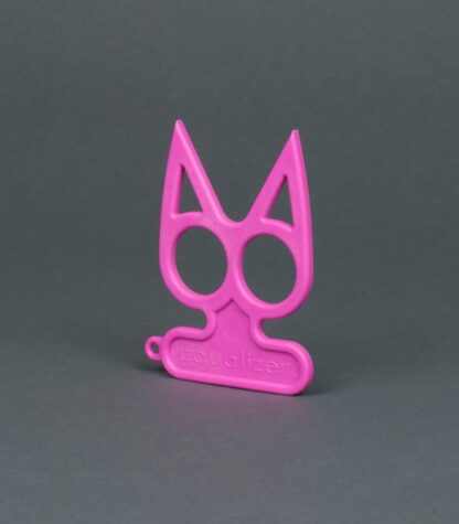 hot pink cat self-defense keychain