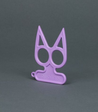 purple cat self-defense keychain