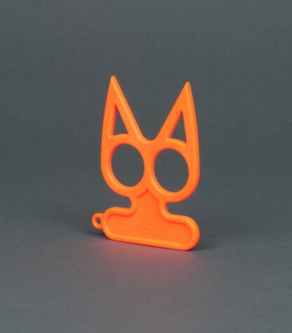 orange cat self-defense keychain
