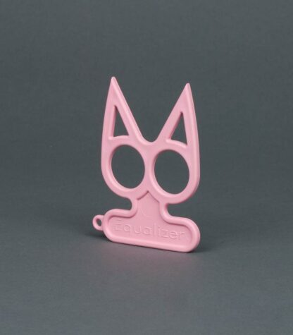pink cat self-defense keychain