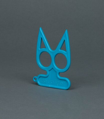 blue cat self-defense keychain